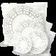 Ажурные салфетки Горница, 10см, 250шт/упак